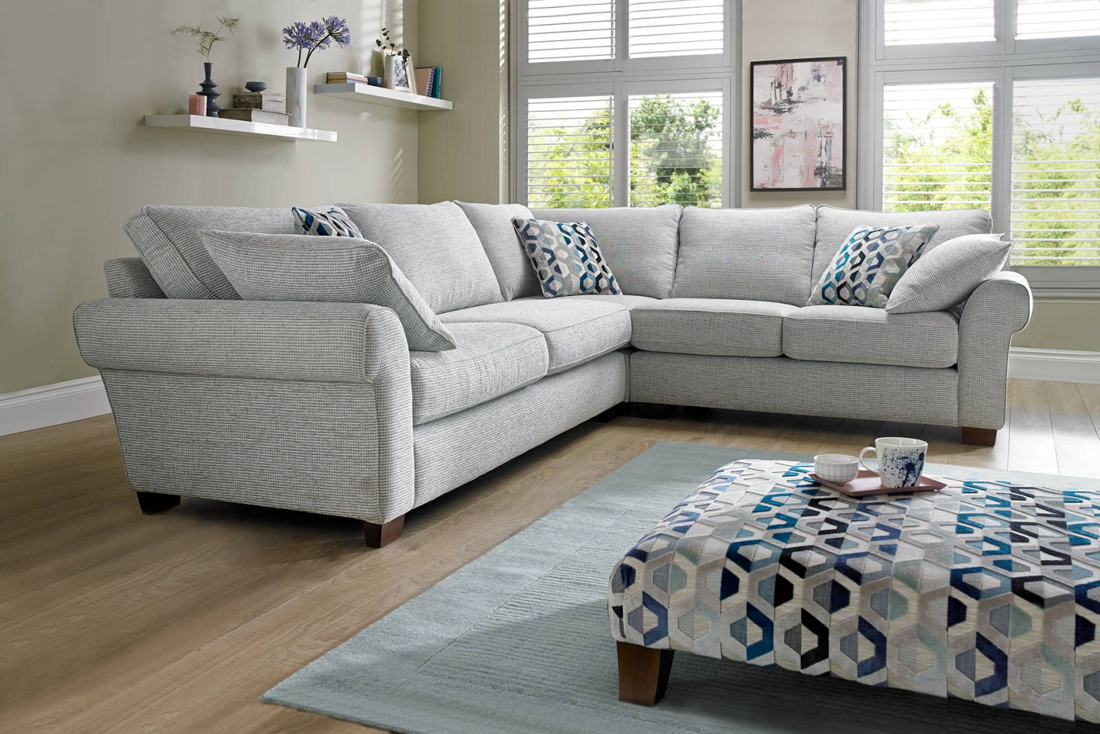 Rosie Sofology Home Fabric Sectional Living Room Sectional