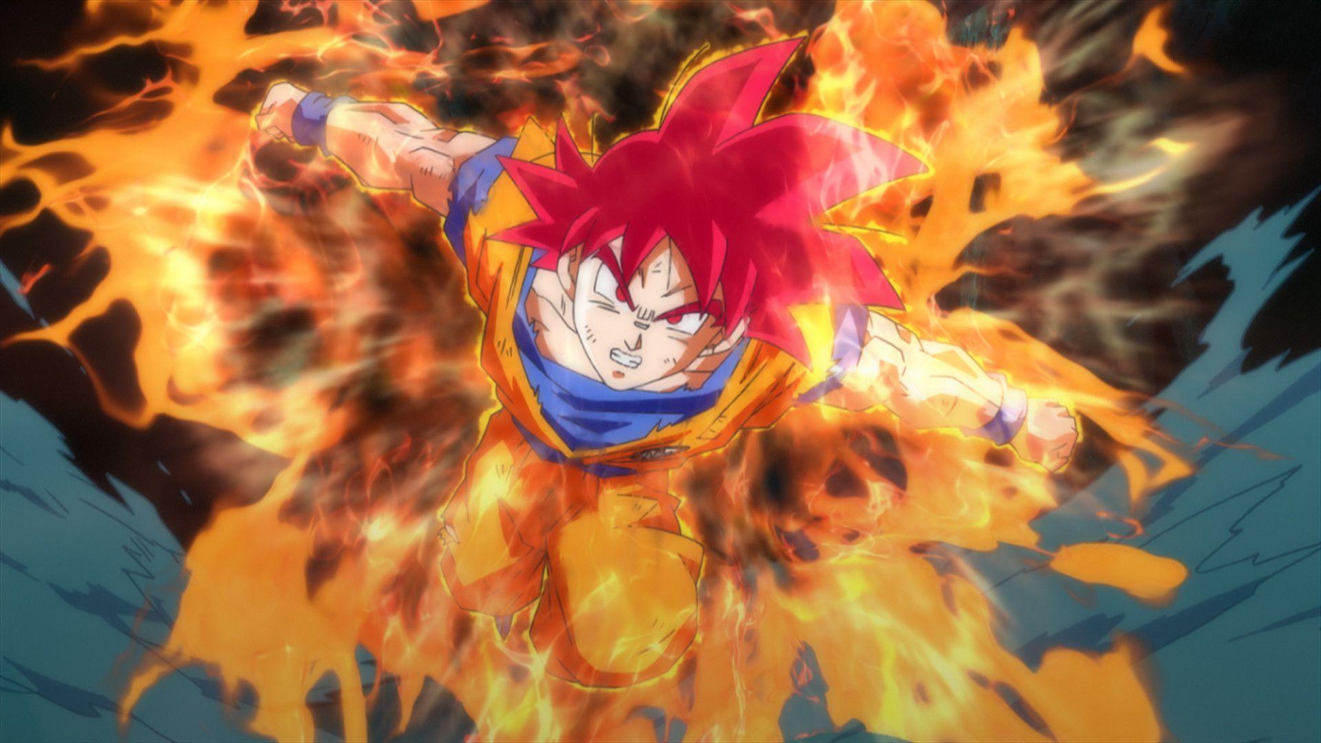 Goku Super Saiyan God Wallpaper Background