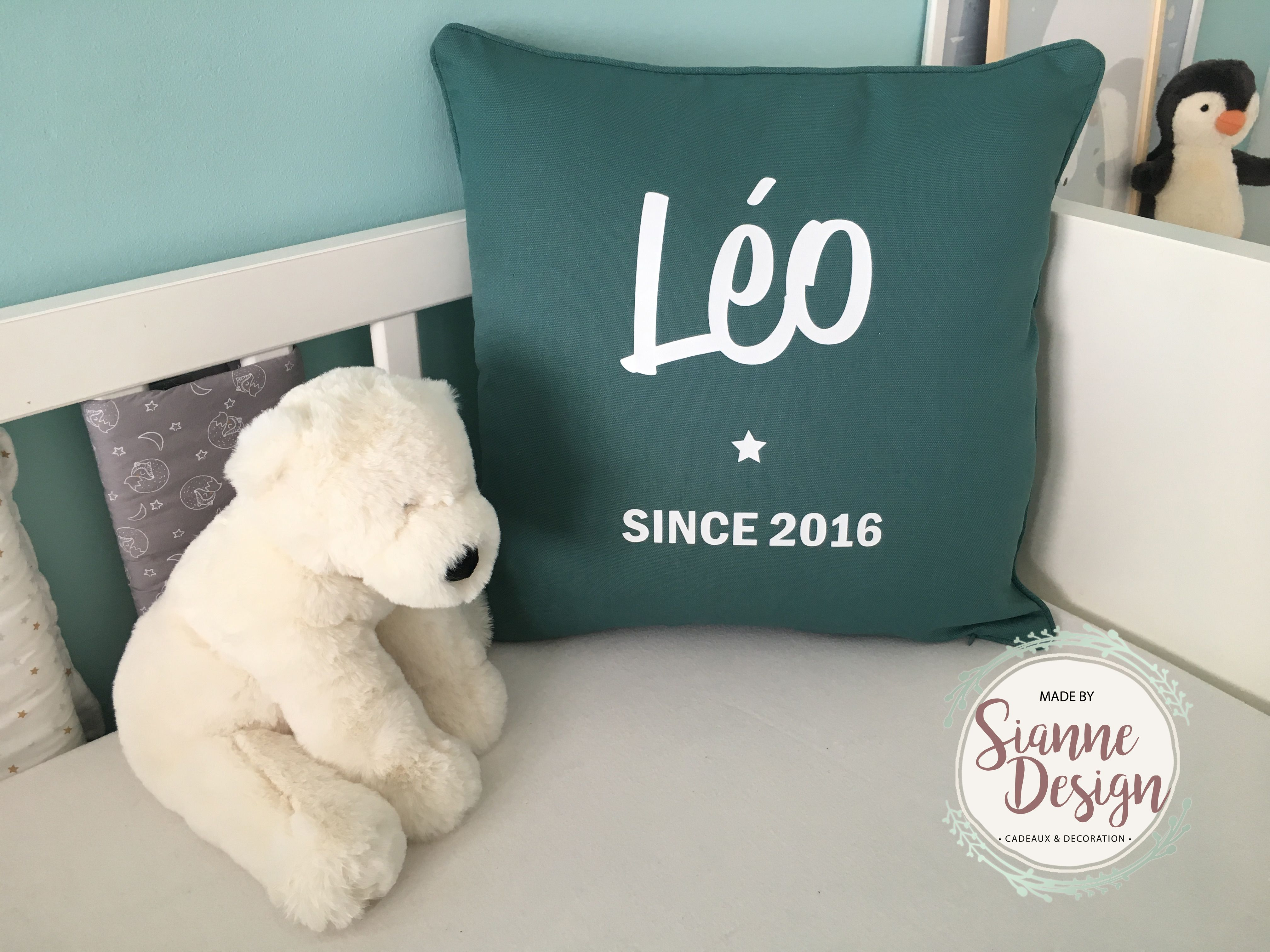 Cushion cover personalized (with cushion pad) | IDEES COUSSINS