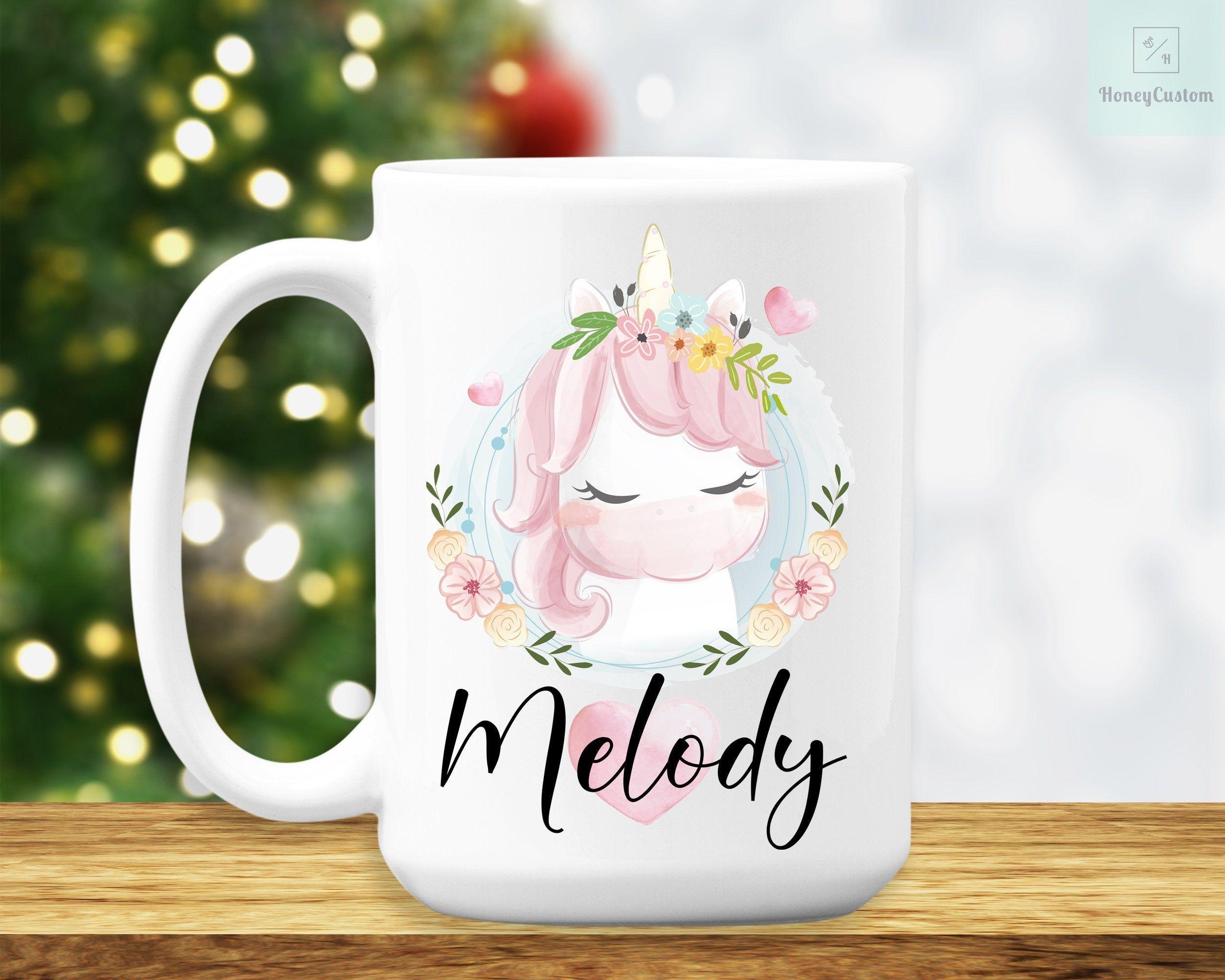 Cute unicorn mug personalized unicorn coffee cup unicorn