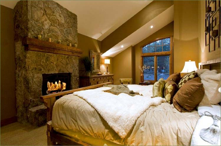 Cabin Mountain Theme Room Inspirations Luxury Master BedroomCozy
