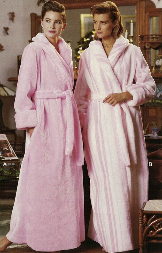 Retro Fuzzy Bathrobes. Retro Fuzzy Bathrobes Satin Dressing Gown ... 3d31513fa77e