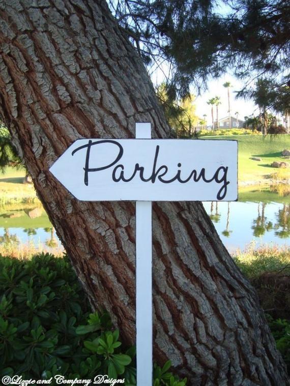Directional Wedding Sign Parking Sign Modern Style Lettering Custom Wedding Arrow Signs Wedd Wedding Direction Signs Wedding Signs Beach Wedding Signs