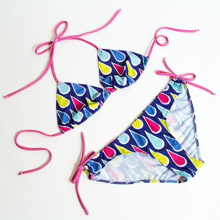 Einen Triangel-Bikini nähen | Free pattern, Tutorials and Patterns