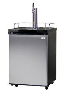Kegco K209ss 1 Full Size Kegerator Black Cabinet With Stainless Steel Door By Kegco 529 99 Convertible To An Stainless Steel Doors Beer Cooler Steel Doors