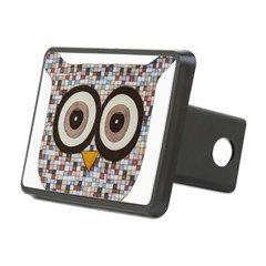 Tweed Owl Rectangular Hitch Cover
