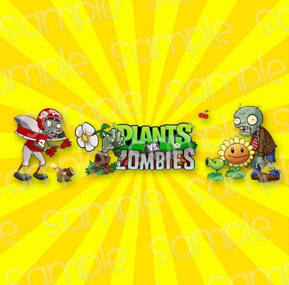 Plants vs Zombies Printables for Birthday Party en 2019 cumple Alejo Plantas vs zombies