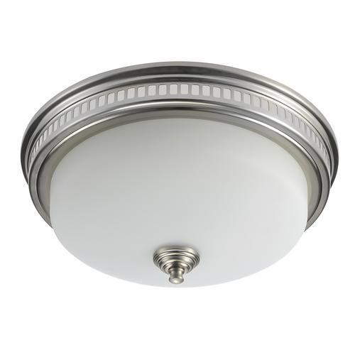 tuscany bath fan with light brushed nickel | exhaust fan