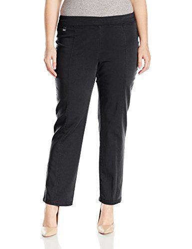 Briggs New York Womens Plus Size Cotton Super Stretch Straight Leg Pull On Pant Black 20w You Can Get Additio Pull On Pants Pants For Women Plus Size Women