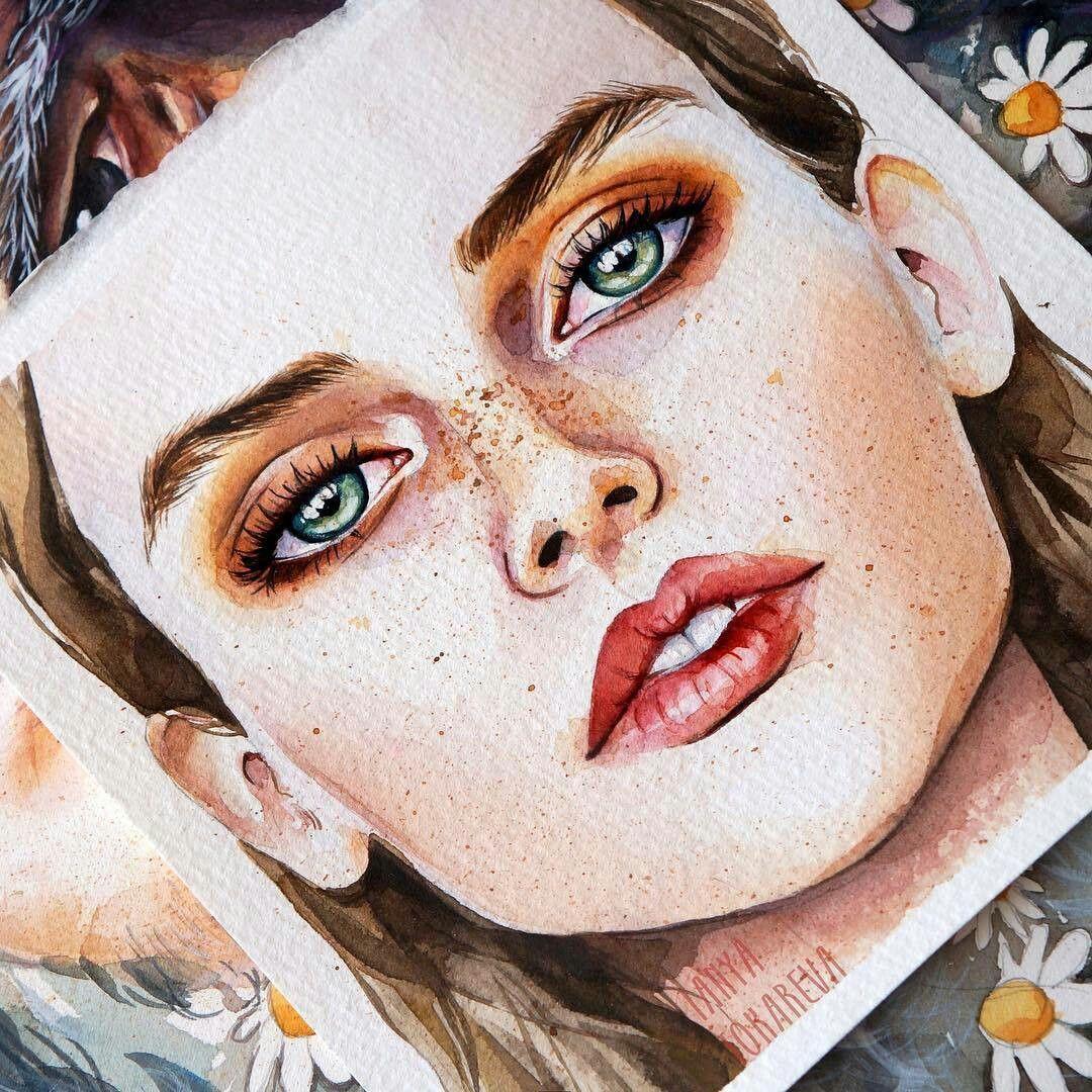 Pin Me At Jghukk Gesicht Malen Aquarellbilder Gesichter Zeichnen