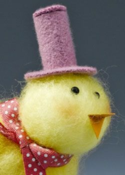 How to make a sweet, Felted Spring Chick~Crafts and Coffee.
