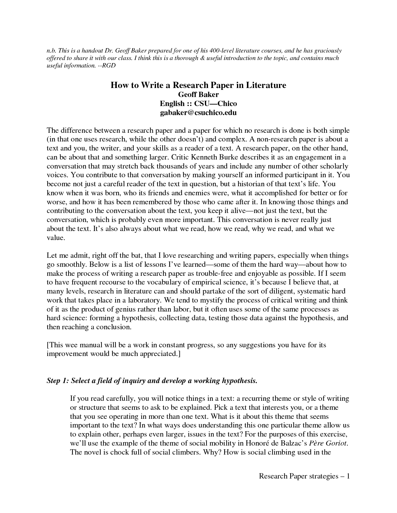 Most memorable experience essay
