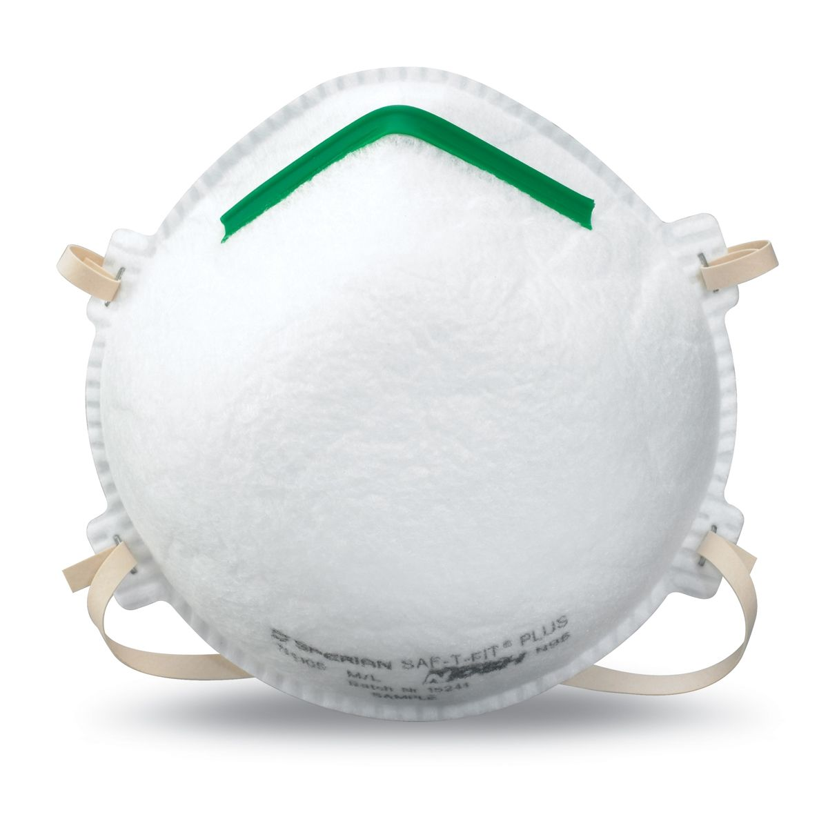 Honeywell SAF-T-FIT Plus Economical Disposable N95 Particulate Respirator - Molded Cup - These disposable respirators offer the most variety in protection size and comfort. NIOSH Approved N95 protection provides 95% particulate efficiency against oil-free particulates. | FullSource.com