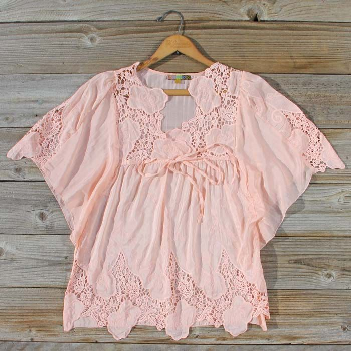 Peony Bloom Blouse, Sweet Cozy Lace Tops