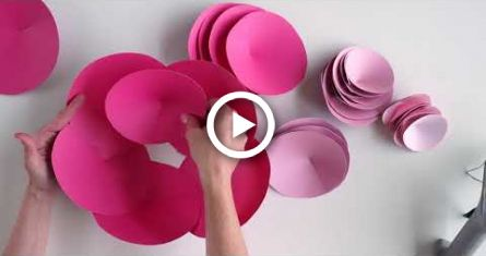 Giant Paper Flower How To | Bluprint | Michaels #constructionpaperflowers
