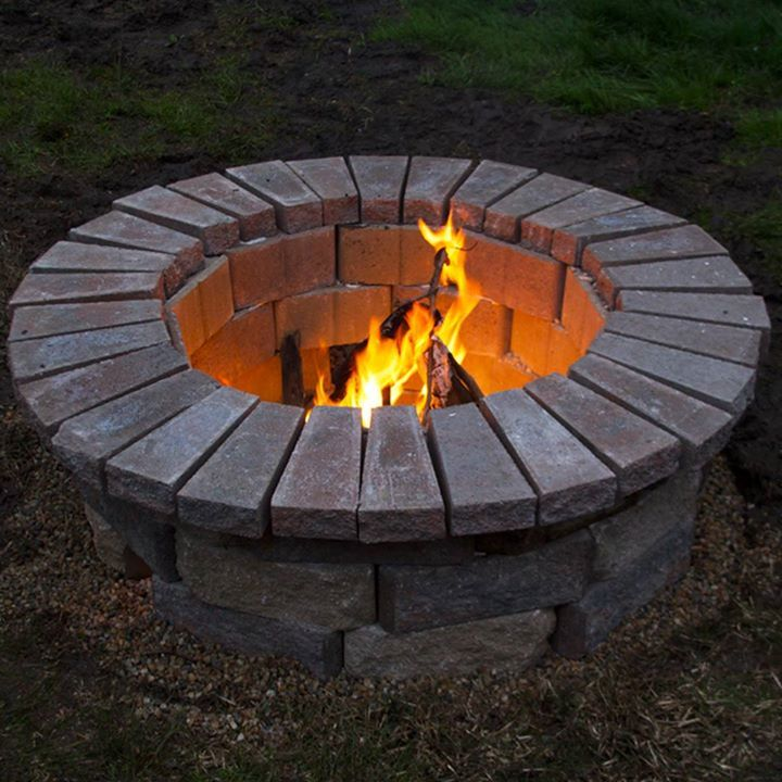 budget friendly fire pit facebook video ranking fire on backyard fire pit landscaping id=40397