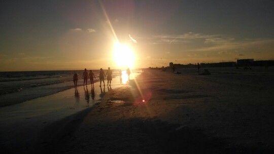 Sunset in siesta beach Fl