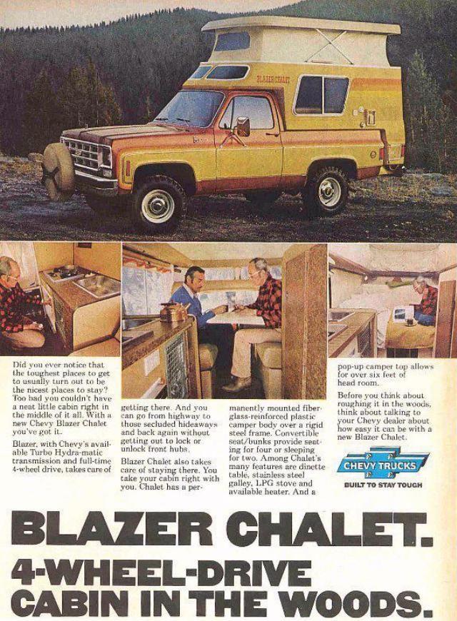 Chevrolet Blazer Chalet Camper Chevrolet Blazer Chevrolet