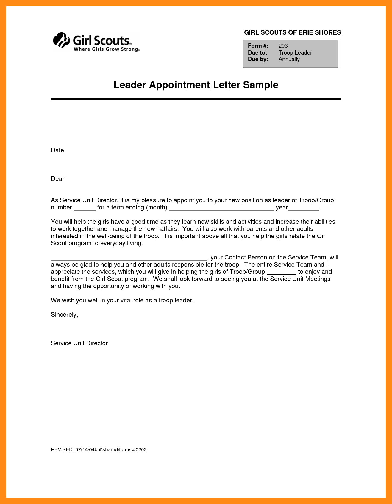 Sample Appointment Lettermple Letter Format For Marketing