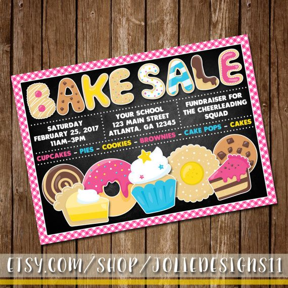 Bake Sale Flyer Sweet Birthday Invitation By Joliedesigns