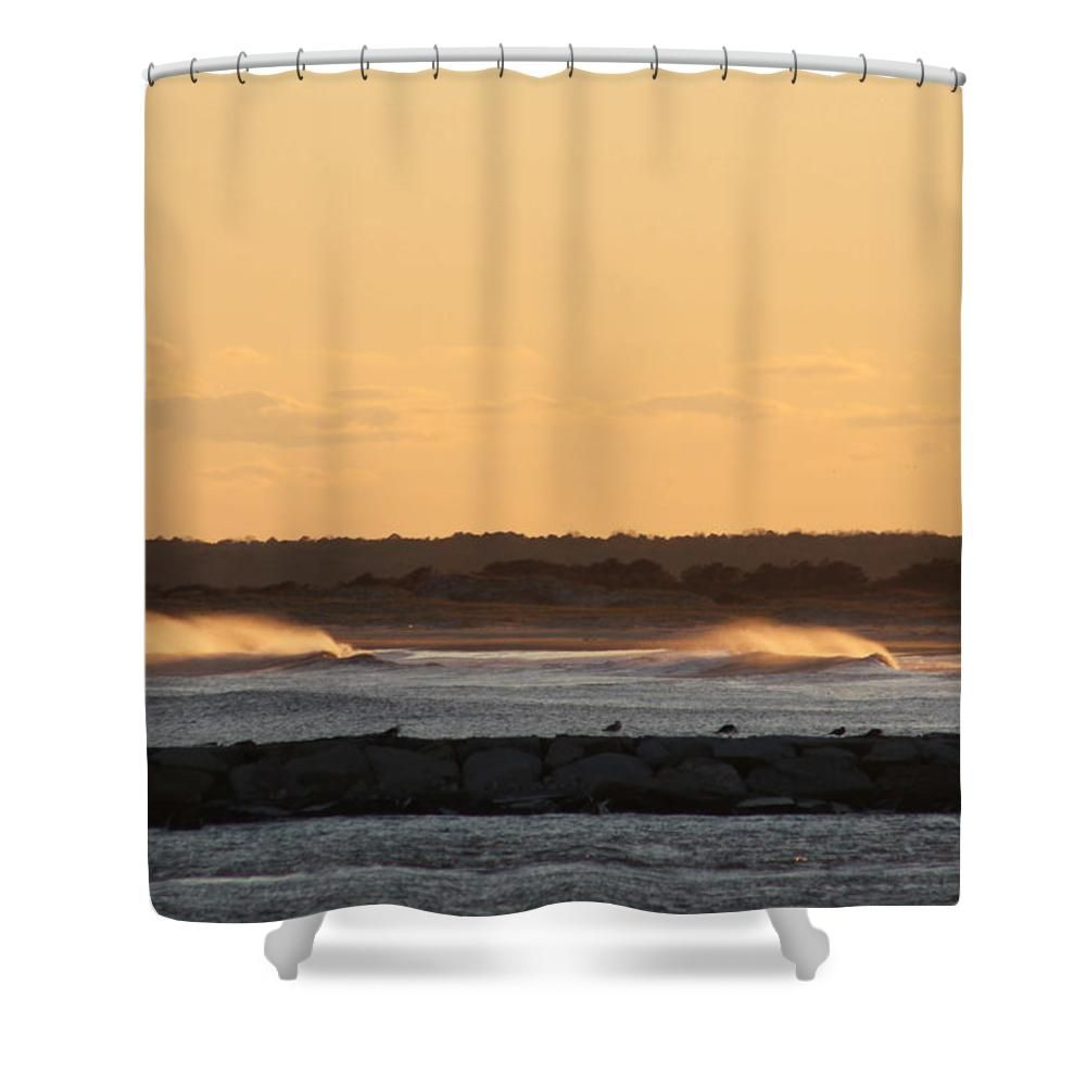 Waves Roll In To Assateague Shower Curtain For Sale By