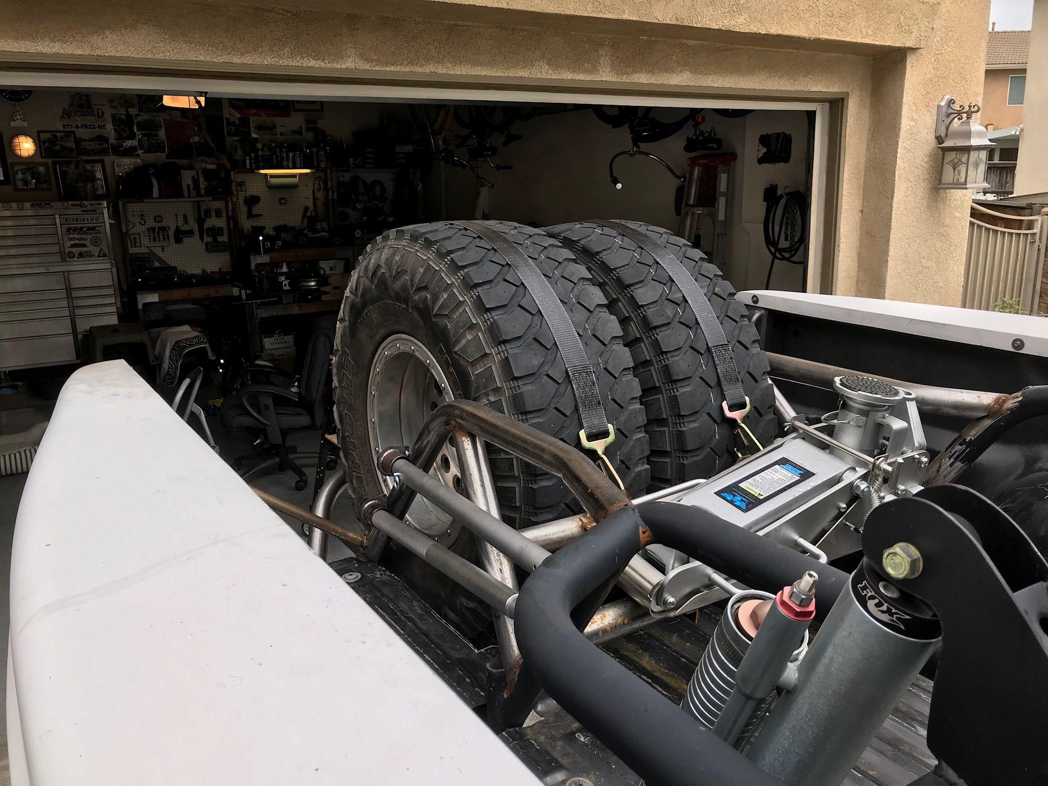 F250 Prerunner Rear Bed Cage Tire Carrier And Jack Mount Ford Ranger F250 Ford Ranger Prerunner