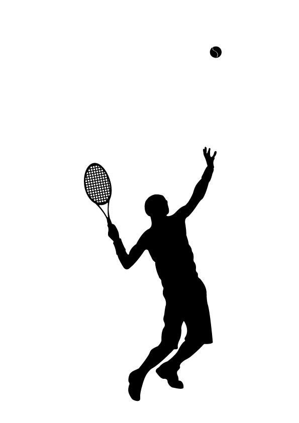 Wall Decal Tennis Silhouette  sc 1 st  Pinterest & Wall Decal Tennis Silhouette | Study | Pinterest | Tennis Wall ...