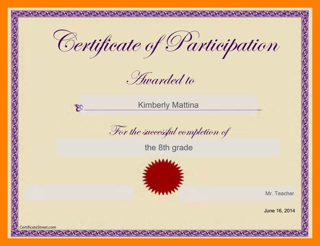 6 Google Docs Certificate Template Pear Tree Digital In Certificate Certificate Of Participation Template Certificate Of Participation Certificate Templates