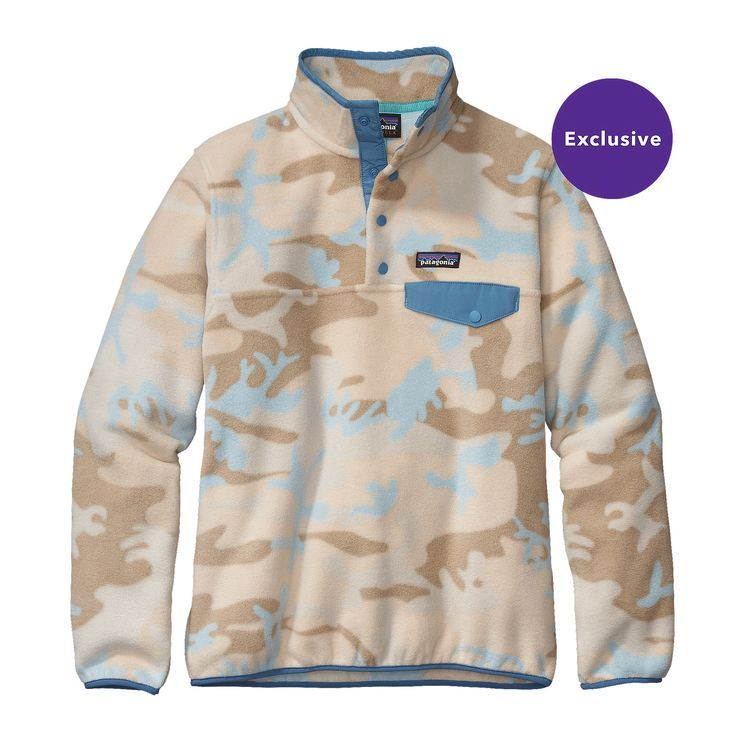 Women's Lightweight Synchilla® Snap-T® Fleece Pullover | Camo ...