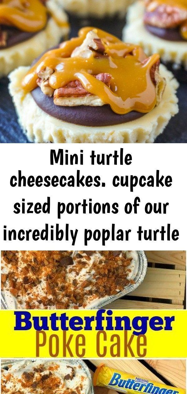 Mini turtle cheesecakes. cupcake sized portions of our incredibly poplar turtle ... #turtlecheesecakerecipes