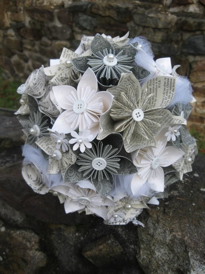 Perennial Paper Flower Bridal Size Bouquet Wedding Flower And Paper Flower