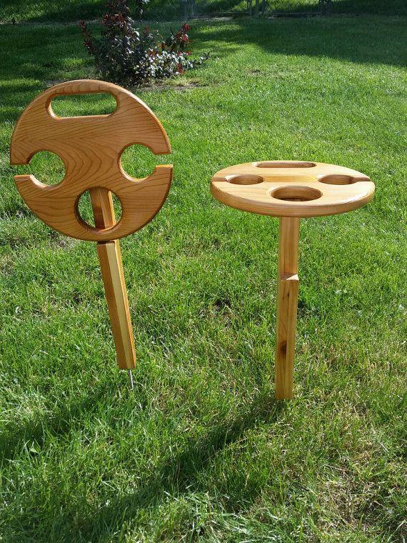 Cedar Outdoor Folding Wine Table Etsy Outdoor Wine Table Folding Wine Table Wine Table