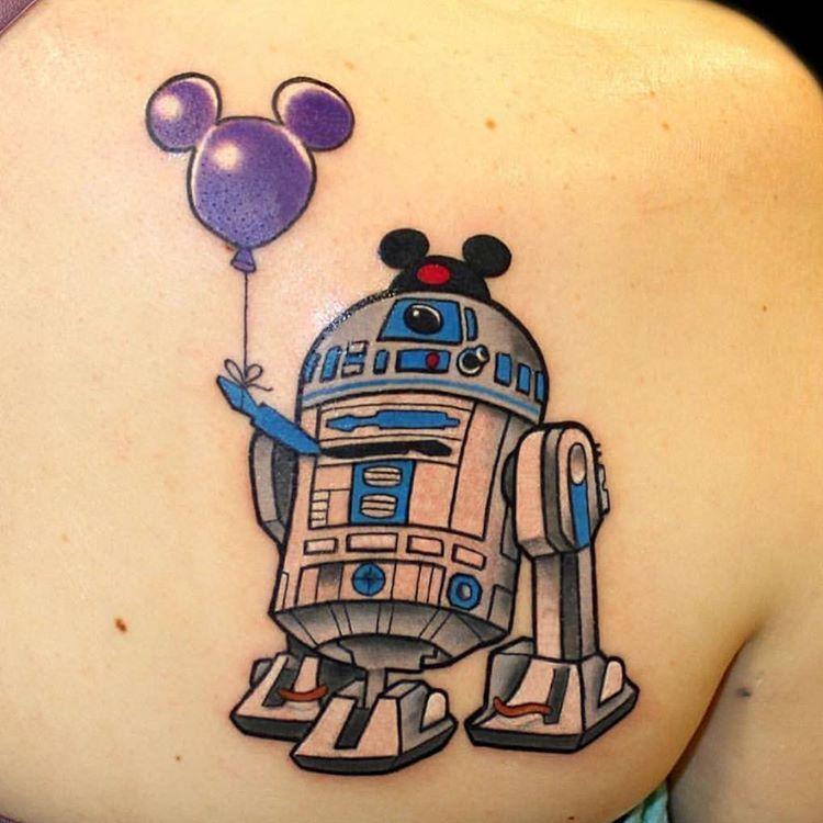 Death Star Tattoo Small: R2-D2 Disney Star Wars Tattoo @deathstartattoos