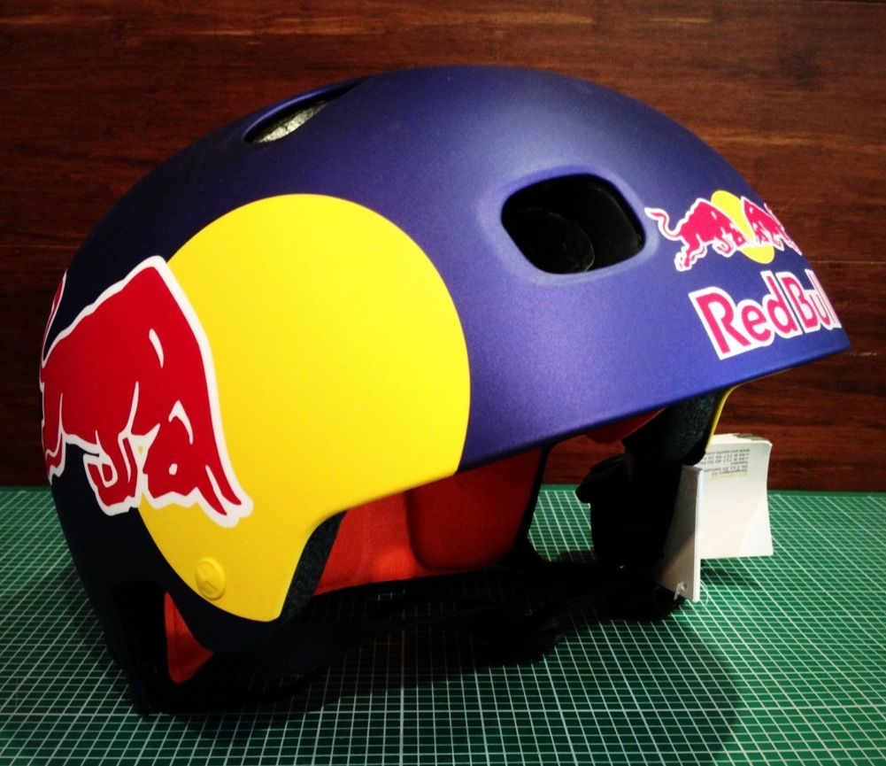 bmx kriss kyle 2013 xgames munich poc redbull helmet red. Black Bedroom Furniture Sets. Home Design Ideas