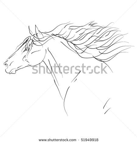 Rearing Horse Coloring Pages | Rearing+horse+outline | Cartoons ...