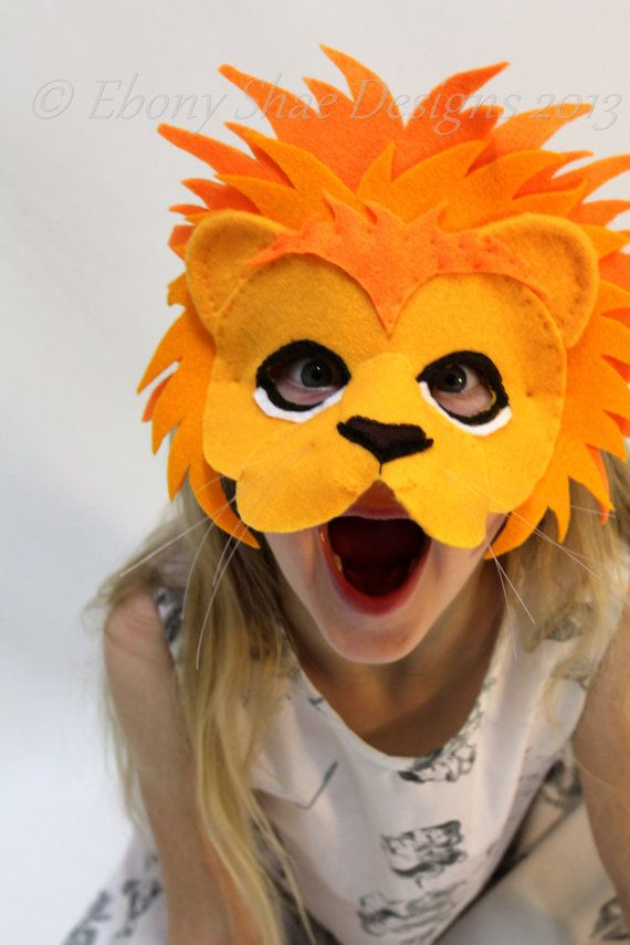 Lion mask pattern kids animal mask sewing pattern diy party mask leo the lion mask pattern instant download sewing par ebonyshae solutioingenieria Choice Image