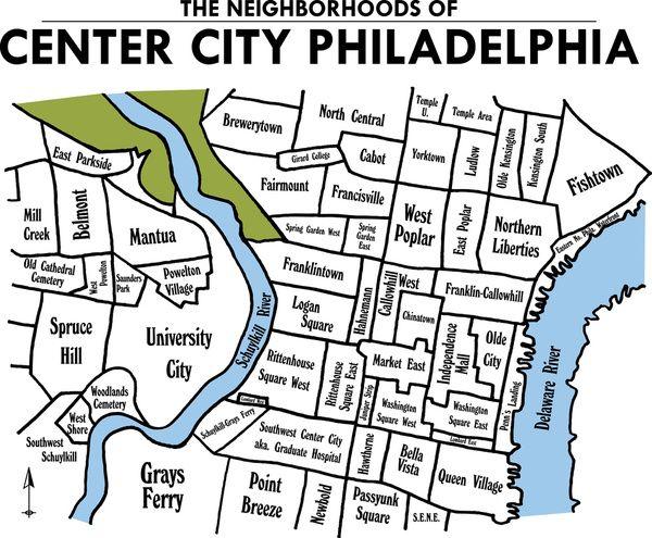 Philly Neighborhood Map philadelphia neighborhood map | Philly, PA, USA | Pinterest  Philly Neighborhood Map
