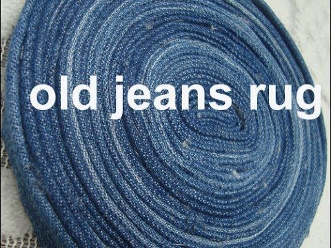 Use Old Denim Jeans To Maje This Rug Carpet Coaster Old