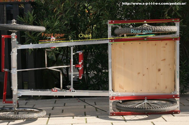 Fotografie: All about Ian's do it yourself bike car on http://www.s-p-i-l-l-e-r.com/pedalcar/en/