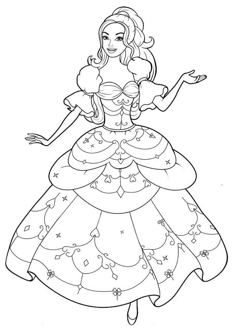 Pin By Renata On Barbie Coloring Kids Coloring Books Barbie Coloring Coloring Pictures