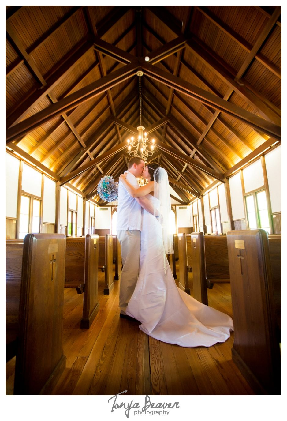 Tonya Beaver Photography; Historic church wedding; Jacksonville Beach elopement; beaches chapel; paper bouquet