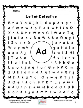 find a letter letter detective word search literacy and school. Black Bedroom Furniture Sets. Home Design Ideas