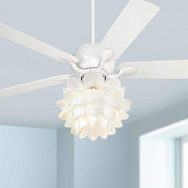 52 Casa Optima White Square Tip Flower Led Ceiling Fan 71v87 Lamps Plus Led Ceiling Fan White Ceiling Fan Ceiling Fan