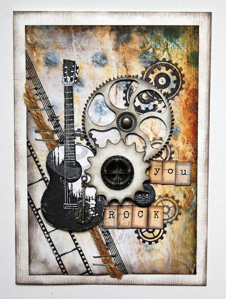 как открытка своими рукам с гитарой комнате нужно создать