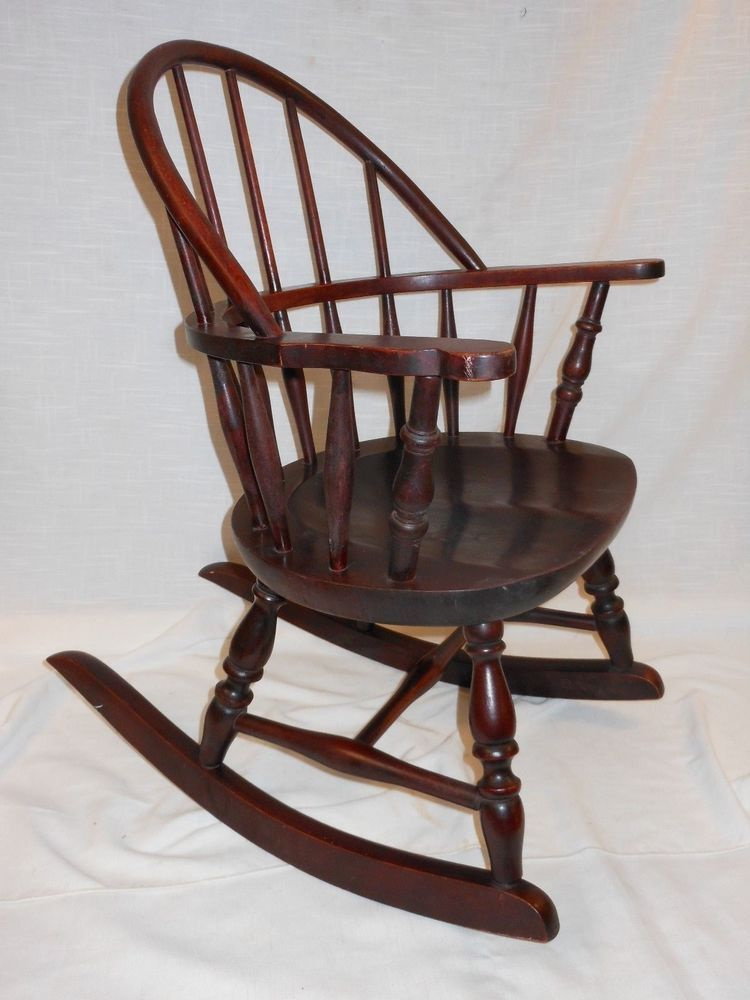 Antique Nichols & Stone Windsor Rocking Chair Child's Rocker #Windsor  #NicholsStoneCo - Antique Nichols & Stone Windsor Rocking Chair Child's Rocker
