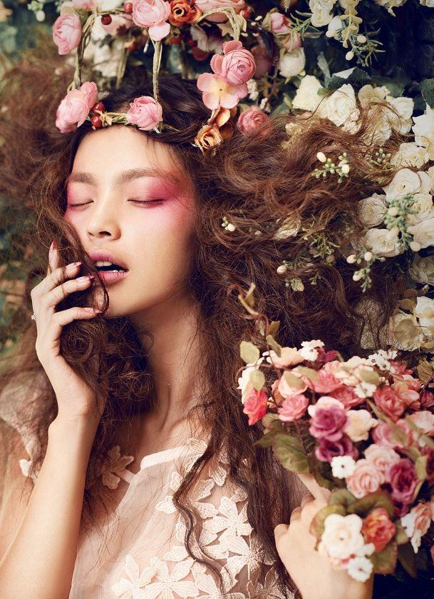 Image result for floral fantasy makeup bridal