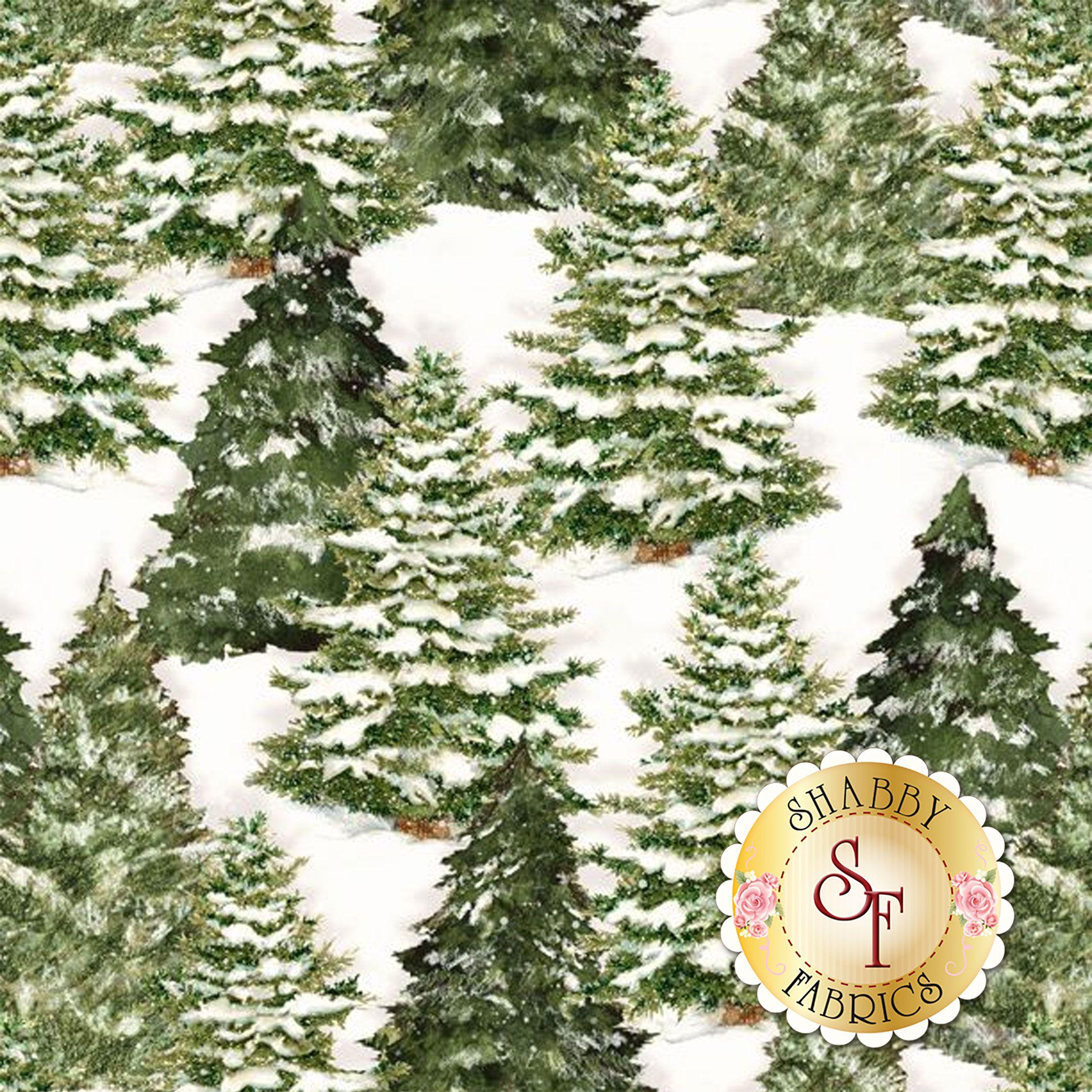 Evergreen Farm 39648-171 Trees Cream by Wilmington Prints ...