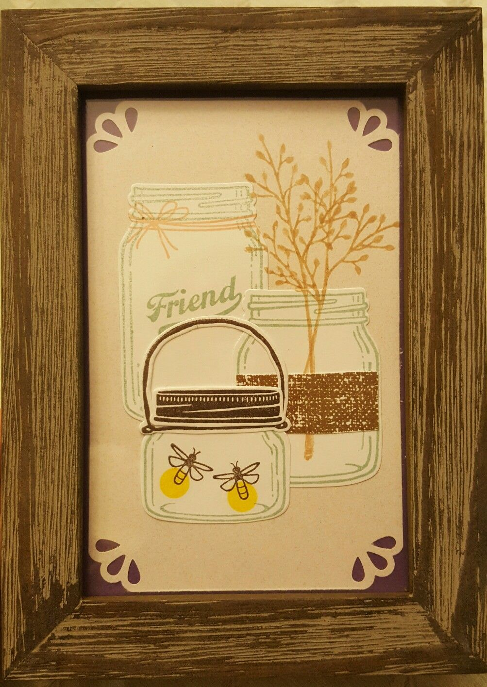 Jar of Love Stampin' Up Set...I made this into a wall hanging.