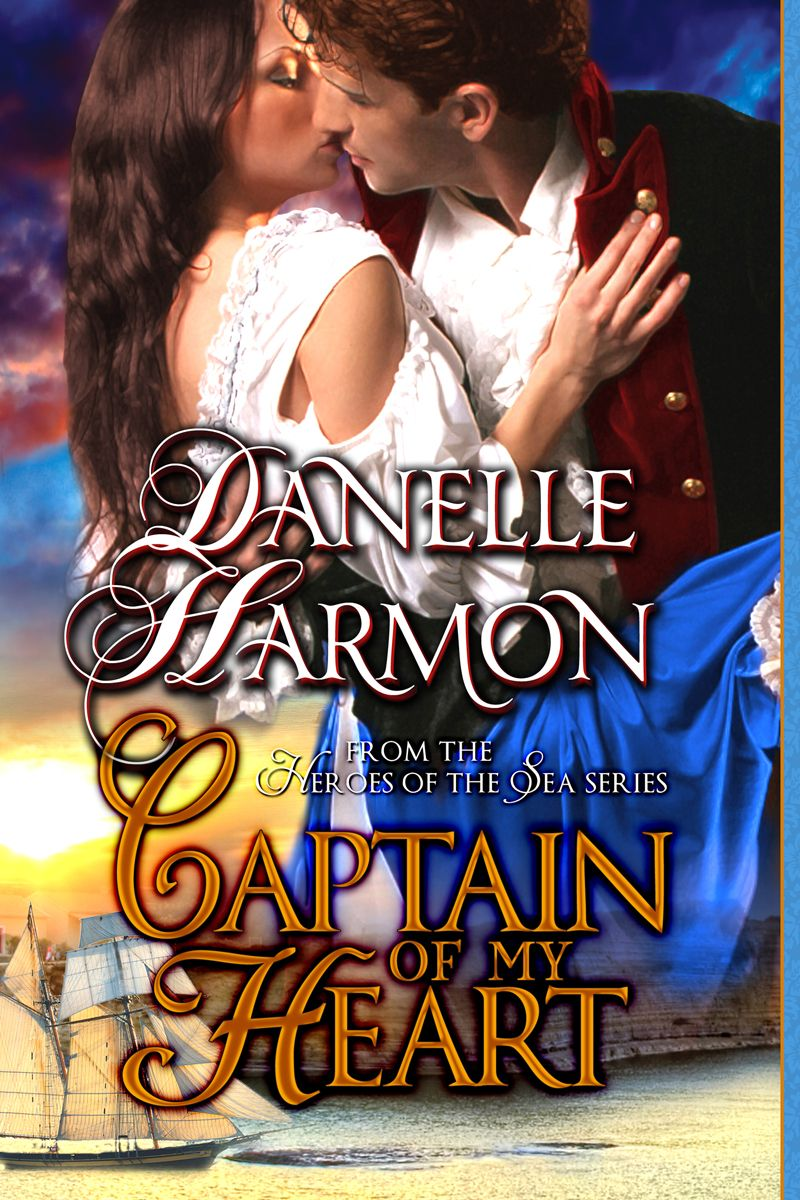 The beautiful cover for CAPTAIN OF MY HEART, with _Pride of Baltimore II_ standing in for Brendan's magnificent topsail schooner, _Kestrel_.