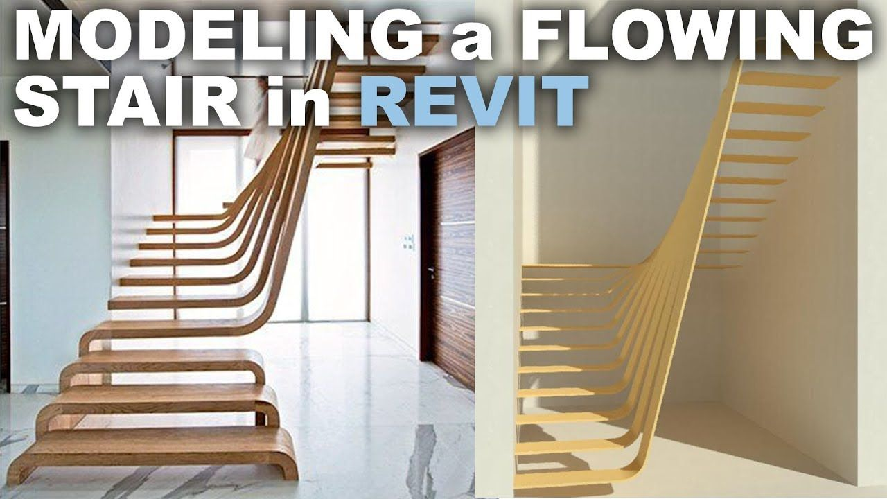 Modeling a Flowing Stair in Revit Tutorial | REVIT | Revit
